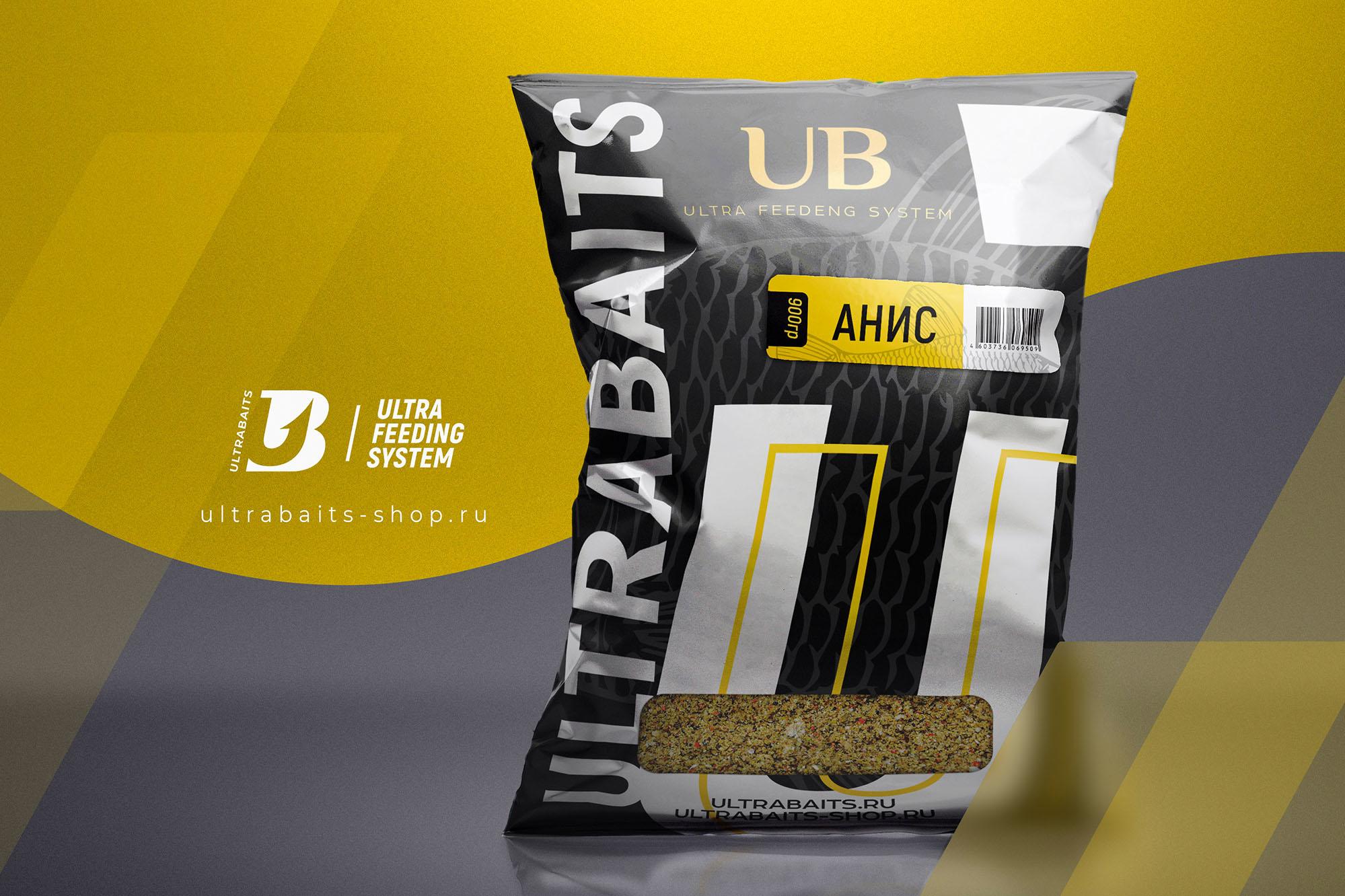 """Прикормка ULTRABAITS """"CLASSIC ULTRA"""" (АНИС) 900 гр"""