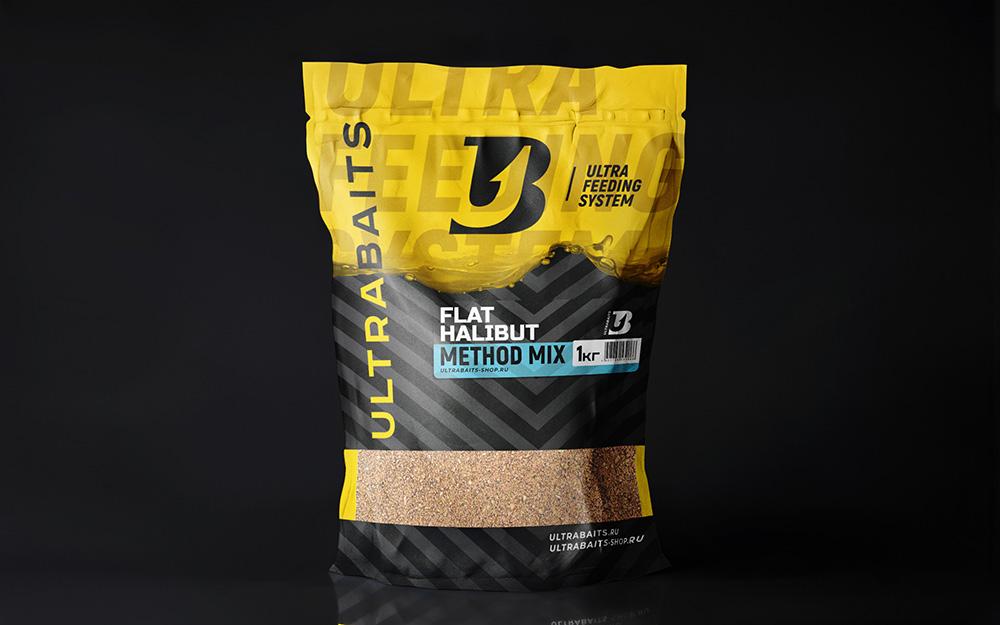 Прикормка ULTRABAITS METHOD MIX (FLAT HALIBUT) 1 кг