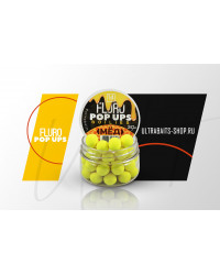 Бойлы плавающие FLURO POP UPS ULTRABAITS (МЁД) 14 мм, банка 30 гр.