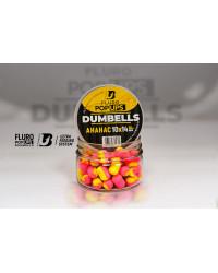 Дамбелсы плавающие FLURO POP UPS DUMBELLS ULTRABAITS (АНАНАС) 10х14 мм