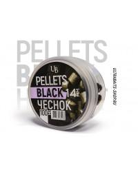 Пеллетс насадочный Ultrabaits BLACK HALIBUT GARLIC (ЧЕСНОК) 14 мм
