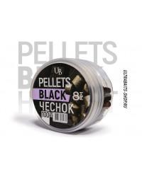 Пеллетс насадочный Ultrabaits BLACK HALIBUT GARLIC (ЧЕСНОК) 8 мм